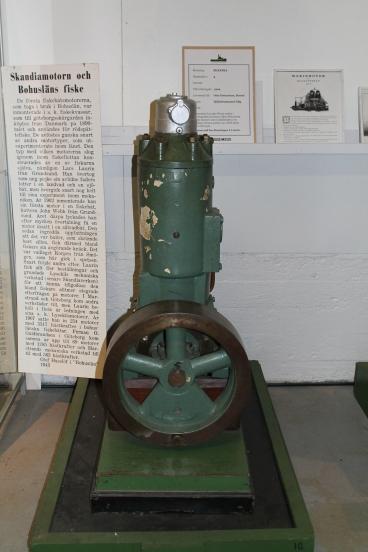 Första motorn som tillverkades på Skandiaverken.
