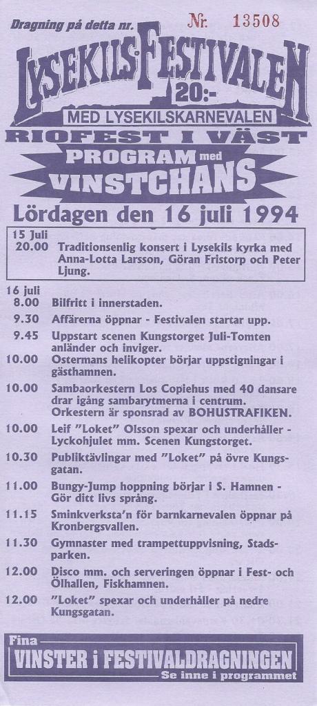 Program från 1994.