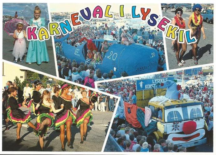 Vykort som trycktes upp till karnevalen.