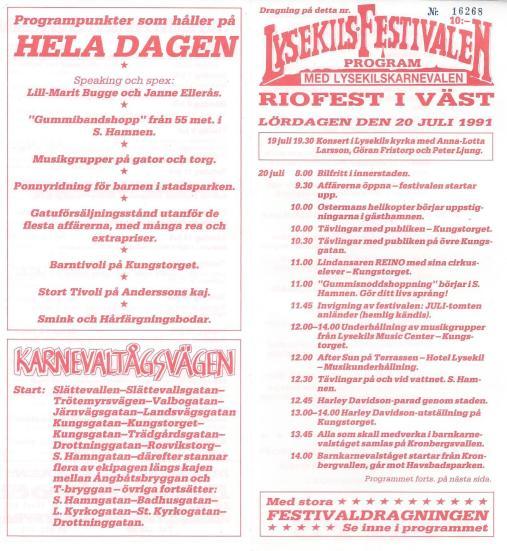 Programblad 1991.