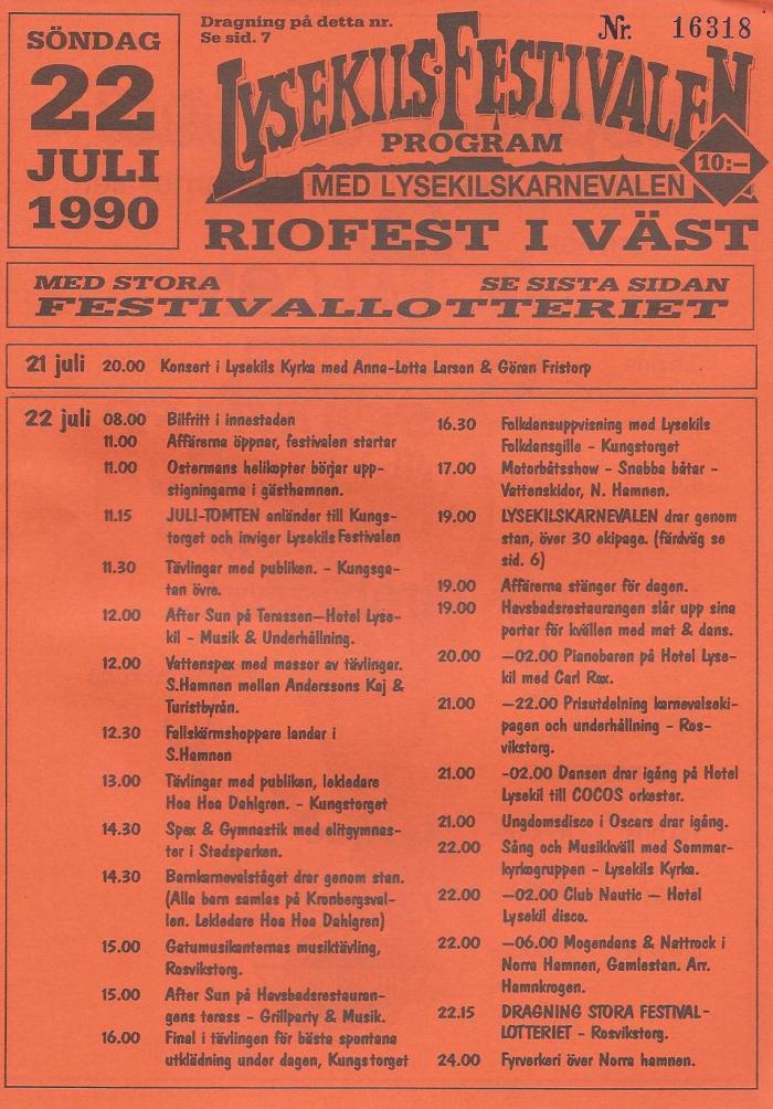 Programblad 1990.