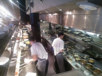 Köket på Jamie Olivers restaurang