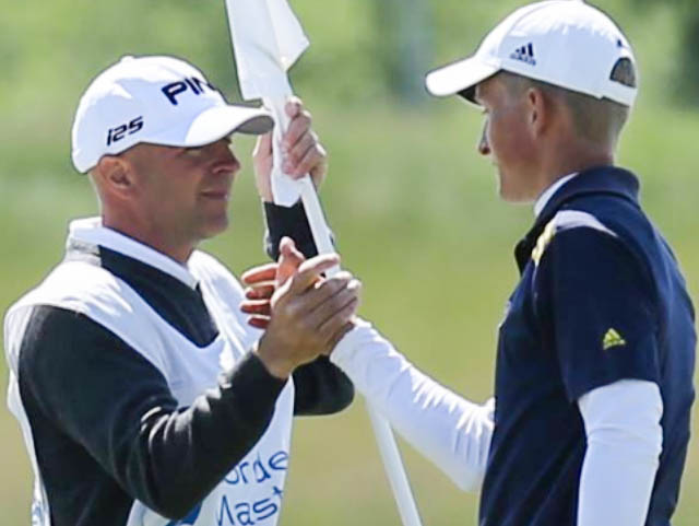 Nordea Masters med pappa som caddy