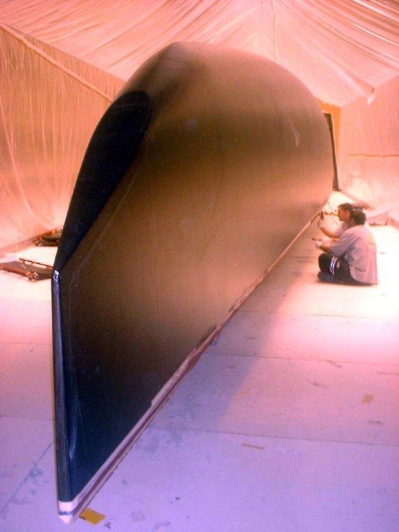 Hull is 2 Tillverkning skrov America's cup båt iacc-63 örn 2002